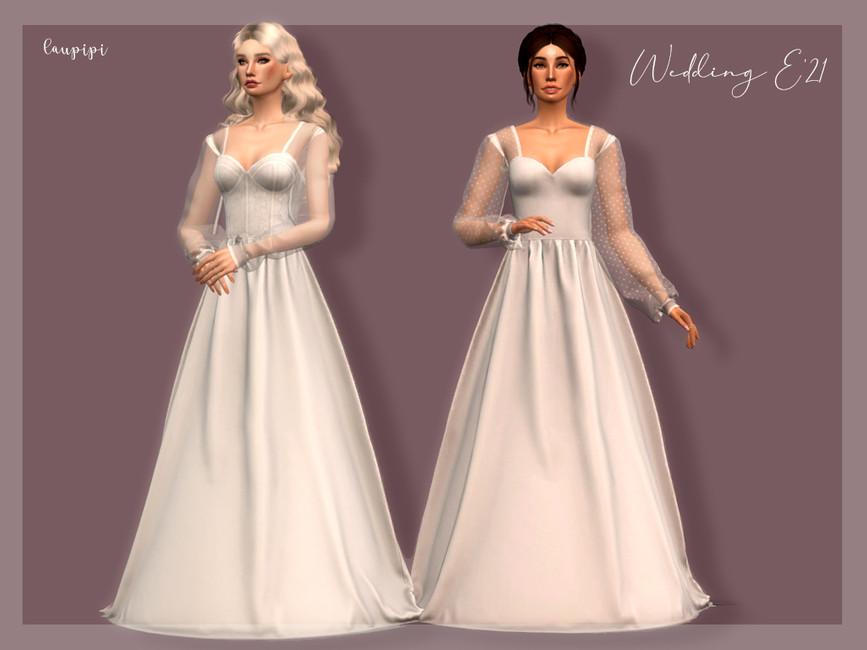 Скачать мод свадебное платье Симс 4