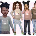 Свитер для детей Toddler Animal Sweater Симс 4
