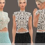 Топ Beaded Cropped Top Симс 4