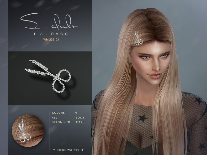 Аксессуар для волос ts4 WM Headacc 202103 Симс 4