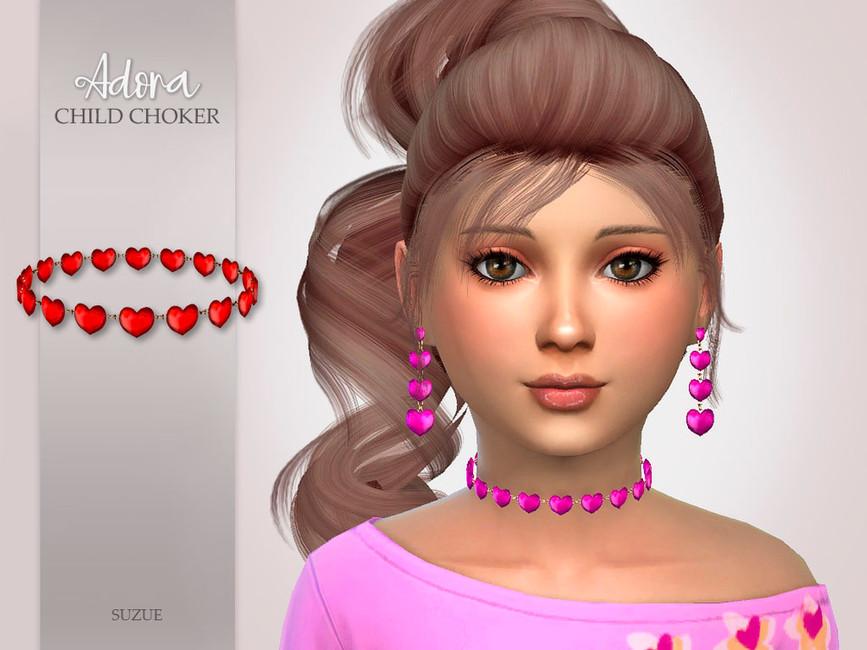 Чокер для детей Adora Child Choker Симс 4