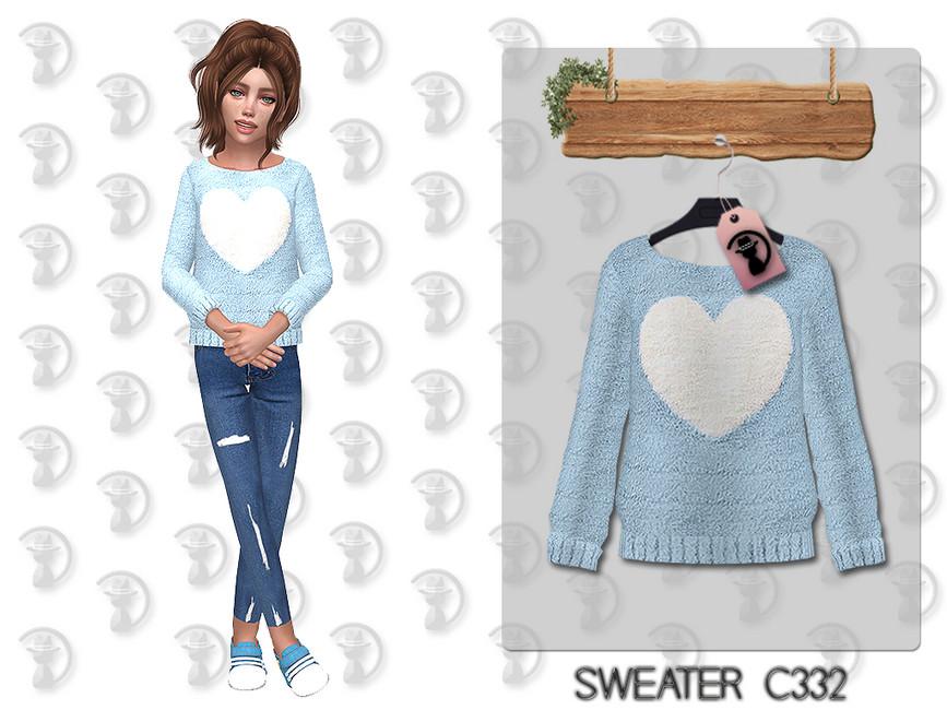 Детский свитер для Симс 4