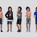 Джинсовые шорты для мальчиков Симс 4