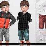 Джинсовые шорты для тоддлеров Симс 4