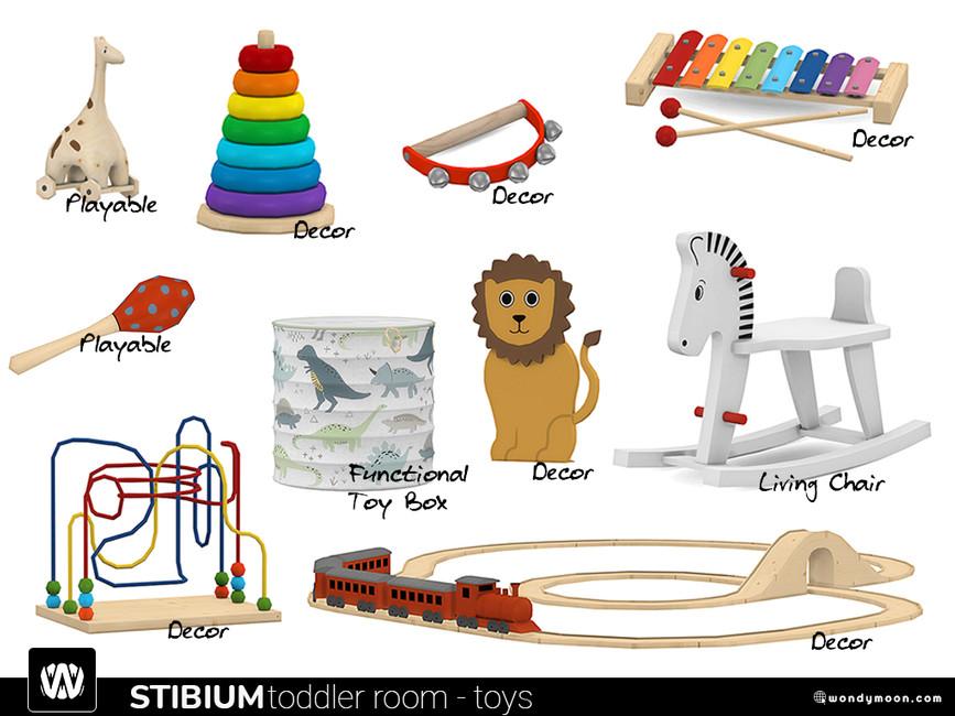 Игрушки для детской Симс 4 (картинка 3)