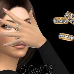 Кольца 12 Gems Eternity Ring Симс 4