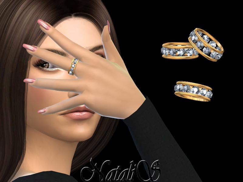 Кольца 12 Gems Eternity Ring Симс 4