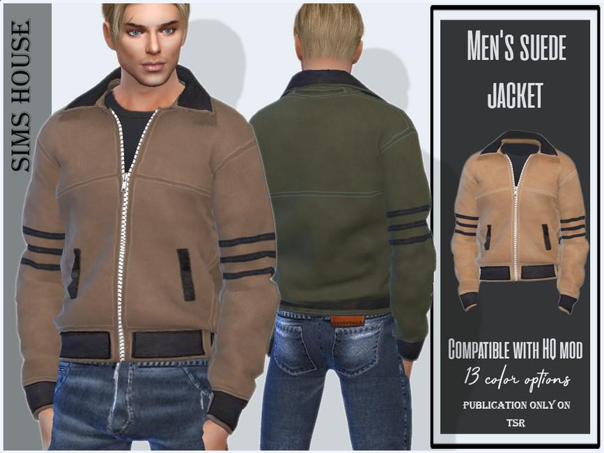 Куртка Men's Suede Jacket Симс 4