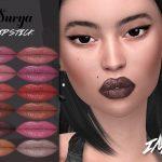 Матовая помада IMF Surya Lipstick N325 Симс 4
