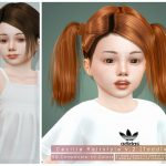 Моды детские прически для Симс 4