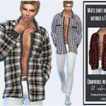 Моды мужская рубашка Симс 4