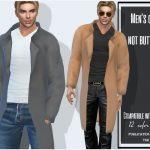 Моды мужское пальто Симс 4