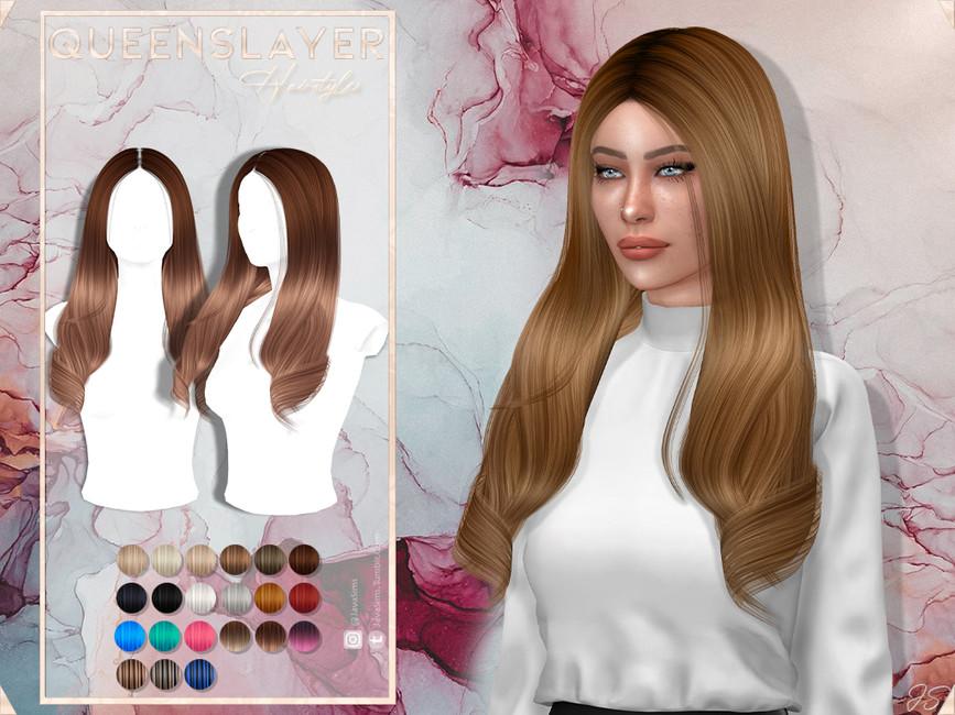 Моды женские прически длинные волосы Симс 4