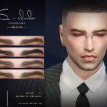 Мужские брови WM ts4 Eyebrows 202104 Симс 4
