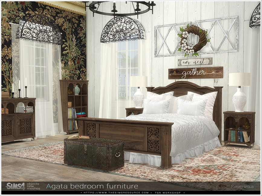 Набор мебели для спальни Симс 4 (картинка 3)