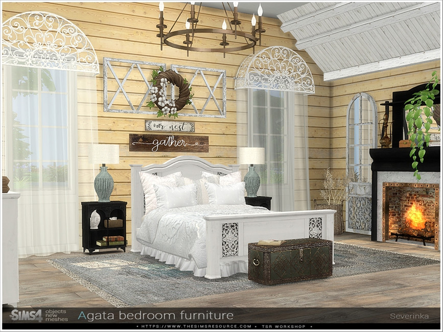 Набор мебели для спальни Симс 4 (картинка 4)