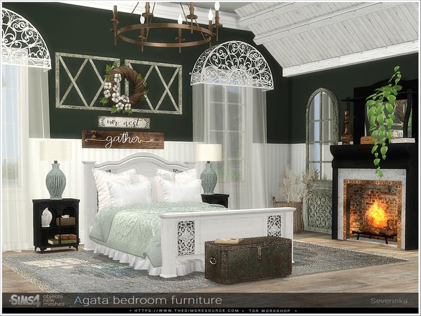Набор мебели для спальни Симс 4 (картинка 5)