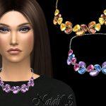 Ожерелье Mixed Color Gems Necklace v-2 Симс 4