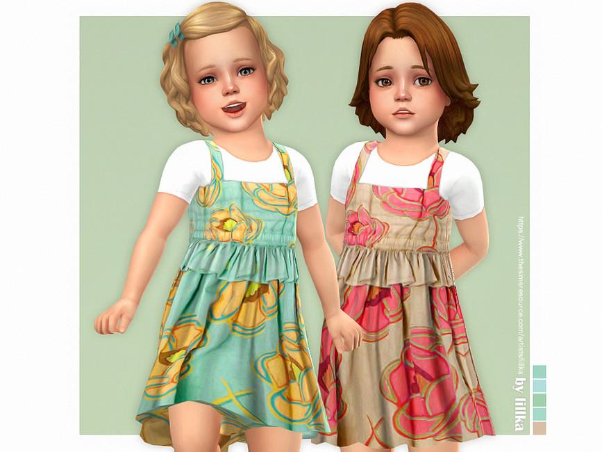 Платье для девочек Gloria Dress Симс 4