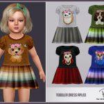 Платье для девочек Toddler Dress RPL83 Симс 4