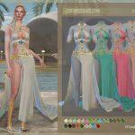 Платье DSF DRESS ELVES CISNE Симс 4