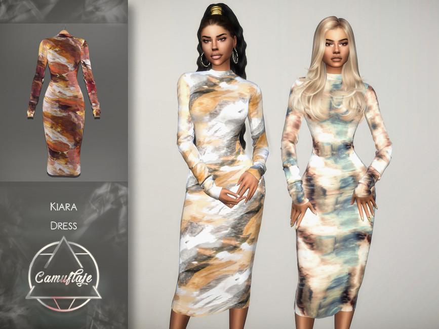 Платье Kiara (Dress) Симс 4