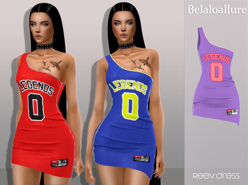 Платье Reev Jersey Dress Симс 4