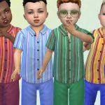 Рубашка для детей Striped Shirt Симс 4