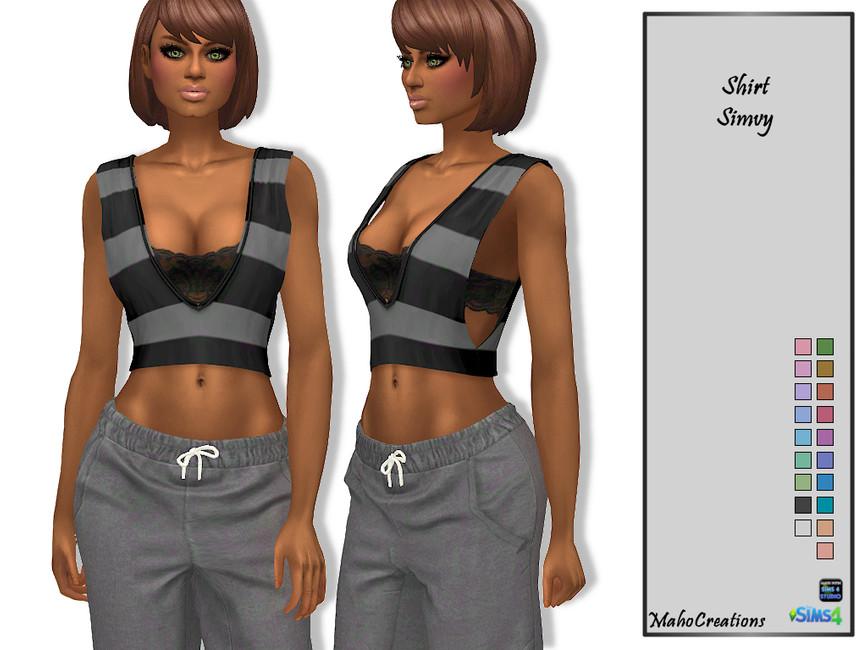 Рубашка Shirt Simvy Симс 4 (картинка 2)