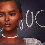 Сережки Crystal Hoop Earrings Симс 4
