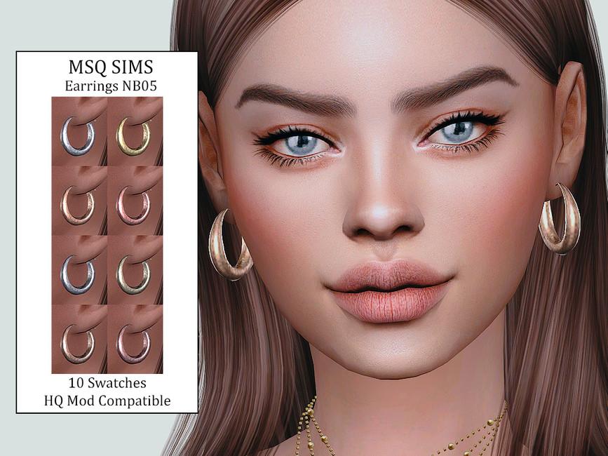 Сережки Earrings NB05 Симс 4