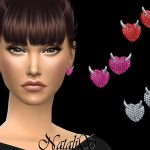 Сережки Evil Heart Stud Earrings Симс 4