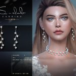 Сережки ts4 LL EARRINGS 2021026 Симс 4