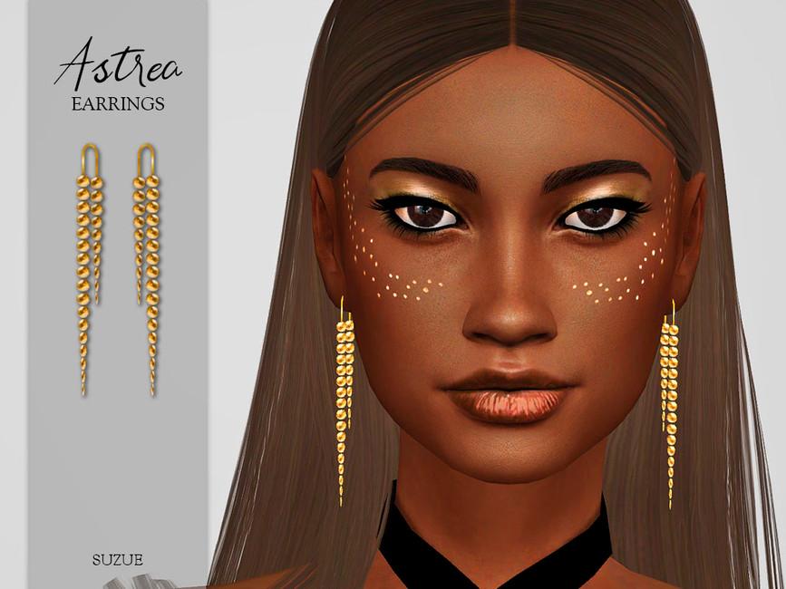 Серьги Astrea Earrings Симс 4