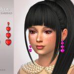 Серьги для детей Adora Child Earrings Симс 4