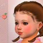 Серьги для детей Peach Toddler Earrings Симс 4