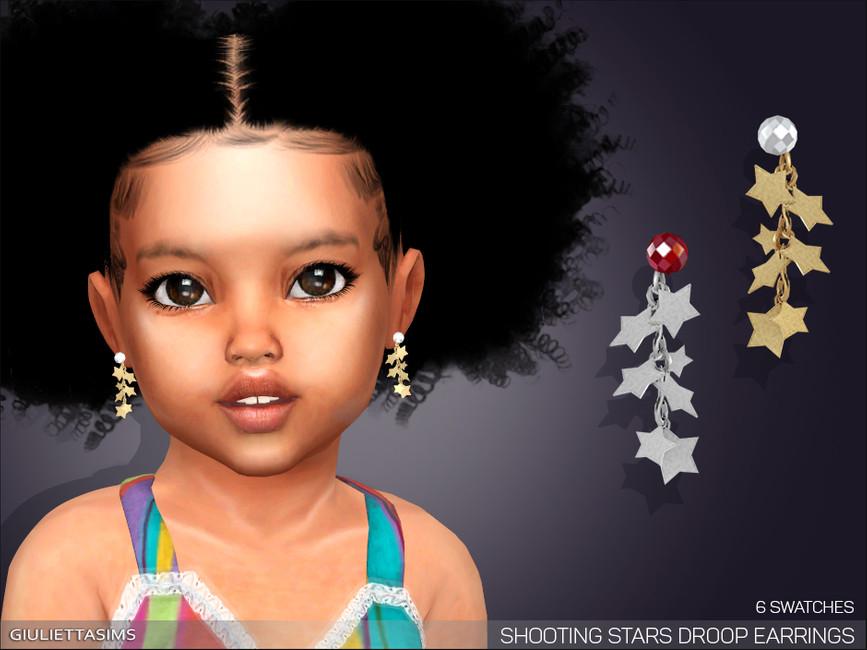 Серьги для детей Shooting Stars Drop Earrings For Toddlers Симс 4