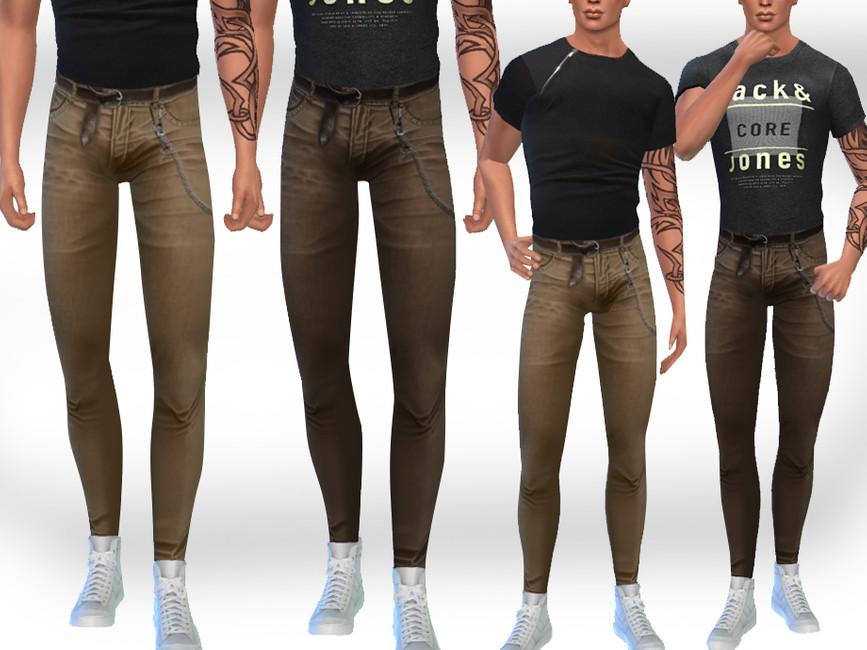 Скачать моды штаны Симс 4