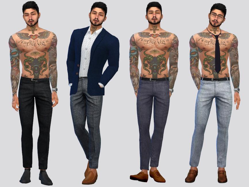 Скачать мужские штаны для Симс 4