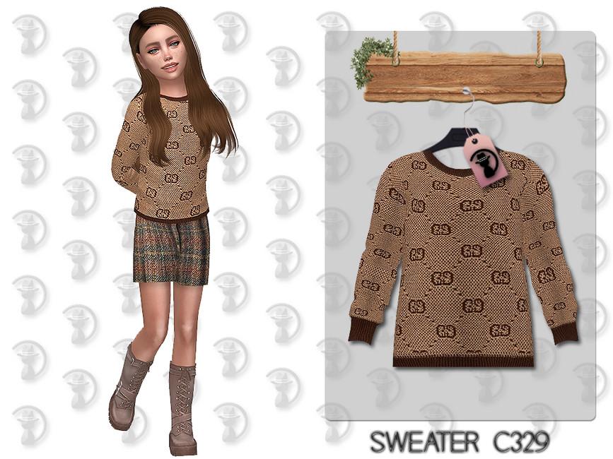 Свитер Sweater C329 Симс 4