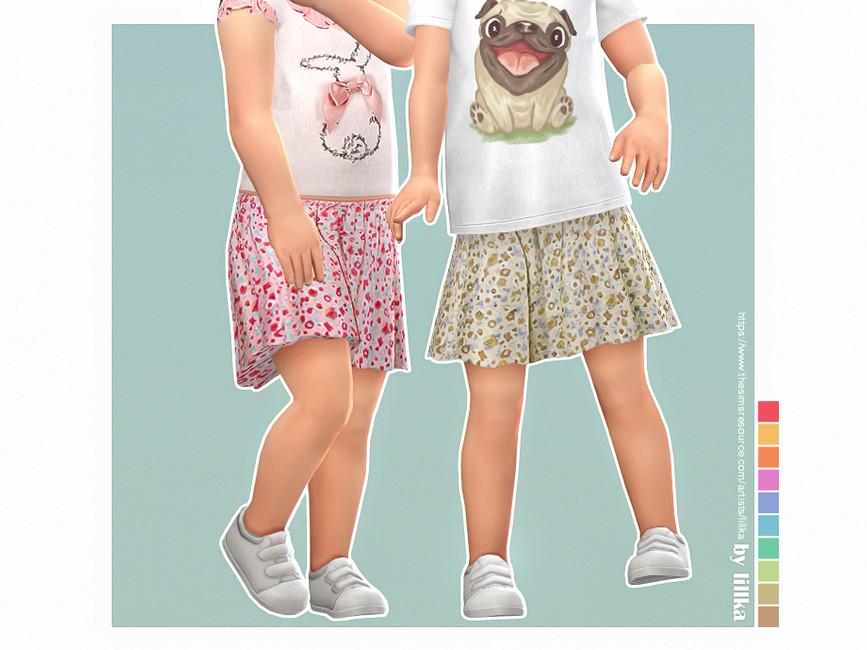 Юбка для девочек Sissi Skirt Симс 4