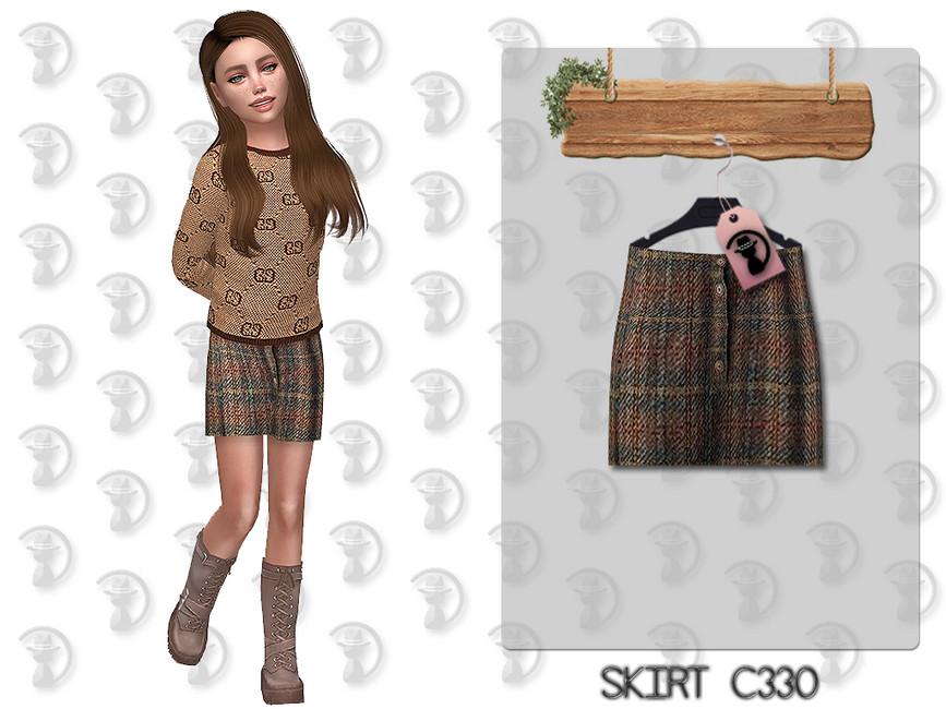 Юбка Skirt C330 Симс 4