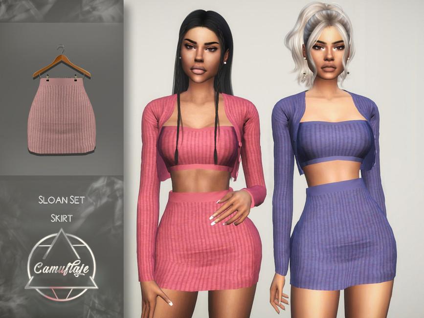 Юбка Sloan Set (Skirt) Симс 4
