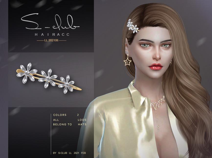 Заколка для волос LL ts4 Hair ACC 202106 Симс 4