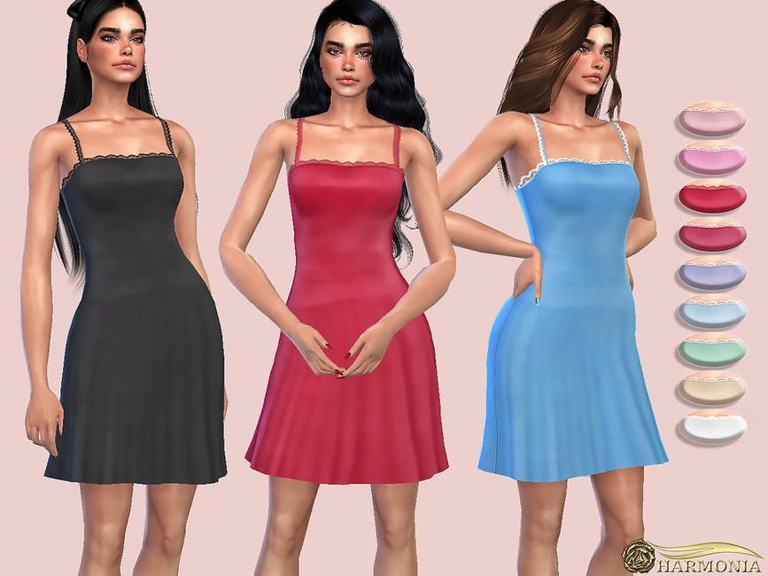 Атласное платье Симс 4