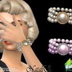 Браслет 60s Pearl Bracelet Симс 4