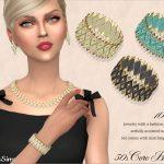 Браслет Coro Lucite Bracelet 50s (right hand) Симс 4