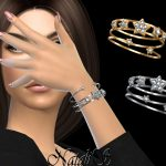 Браслеты Diamond Star Bracelets Симс 4