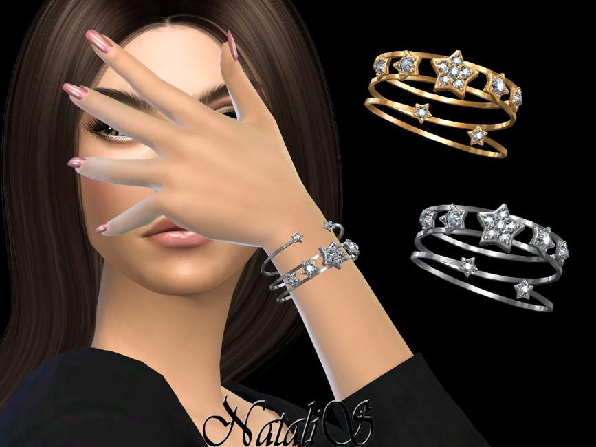 Браслеты Diamond Star Bracelets Симс 4