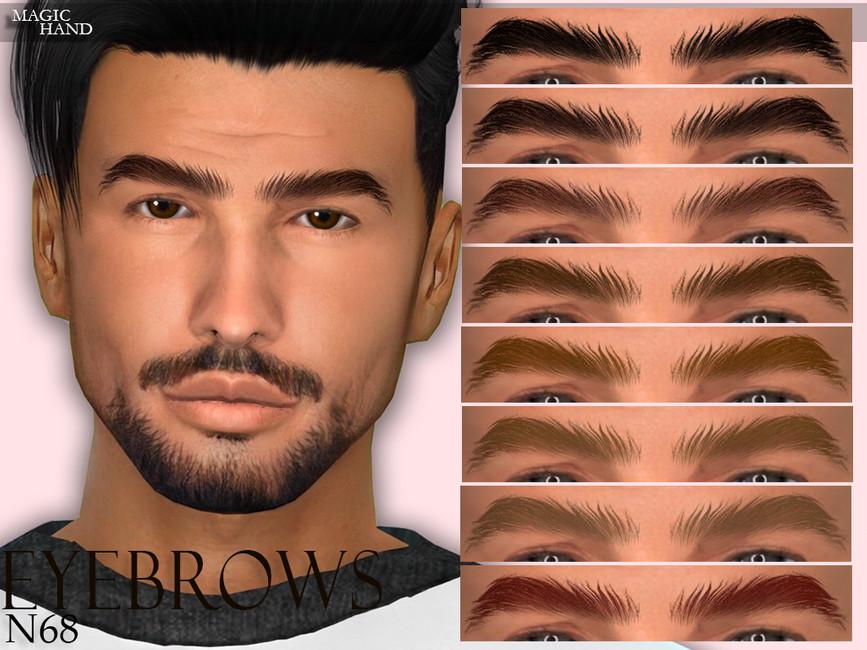Брови [MH] Eyebrows N68 Симс 4